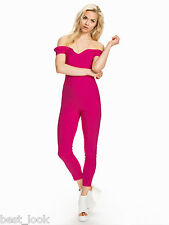 Miss Selfridge Pink Bardot Jumpsuit Size 8 to 16