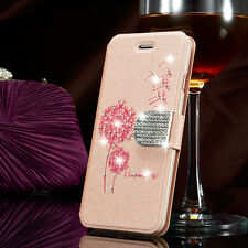 Luxury Leather Flip Stand Diamond Bling Wallet Cover Case For Samsung Galaxy