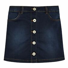 Bluezoo Kids Girls' Dark Blue Denim A-Line Skirt From Debenhams