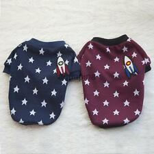 Pet Dog Cat T Shirt Puppy Apparel Doggy Outfit Clothes Stars Print Rocket Decor