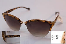 JESSICA SIMPSON Designer Signature Semi Rimless Cateye SUNGLASSES