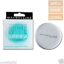 Maybelline White Superfresh Pressed Powder Compact Lightening Coral Pearl Shell