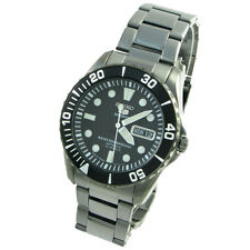 Seiko Sport Analog Mens 5 SPORTS  JAPAN Black Watch SNZF21J1