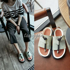 ITALY DESIGN Womens Gladiator Suede Roma Sandals Tong Flip-flops Open Toe Shoes