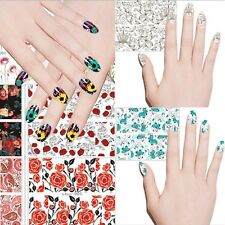 1 Sheet Nail Art Stickers Water Transfer Decals Nail Tips Manicure Decoration