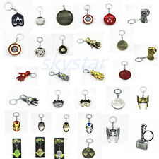 Avengers Captain Key Ring Chain Iron Man Arc Reactor Shield Hand Mask Gifts toy