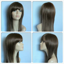 HIGH HEAT RESISTANT FIBRE MODERN SILHOUETTE LONG SMOOTH LAYERS LADY WIG S-C