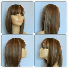 HIGH HEAT RESISTANT FIBRE LADY GAGA FRINGE WIG WITH SKIN TOP PARTING T-004