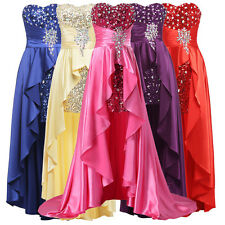 Beaded Satin Prom Formal Evening Gown Dress Homecoming Cocktail Party Dresses