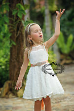 Flower Girl Headband Sash Set Baby Headband Sash Junior Bridesmaid Headband Sash