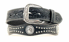 Ariat Black Scalloped & Studded Concho Belt A1011601
