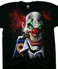 Liquid Blue Joker Clown Dark Fantasy Tee 31206