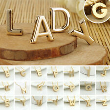 Women Gold Plated Alphabet Initial Letter Chain Pendant Necklace  ( A-Z) Sweet