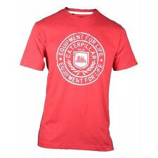 CAT Lifestyle COLLEGIATE Mens Casual Comfort Cotton Patterned T-Shirt Flame Red