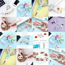 Fashion New style Rubber Fish Bone Earphone Cord Cable Winder Management