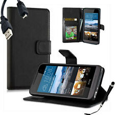 HQ Wallet Money Card Leather Case Cover For HTC Desire 520 + Sytus & Cable