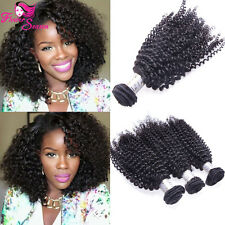 Kinky Curly Hair Bundles Brazilian Human Hair Weft Afro Hair Weaves Extensions