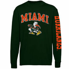 Miami Hurricanes Youth Green Distressed Arch & Logo Long Sleeve T-Shirt