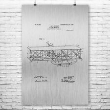 Wright Bros Airplane Flying Machine Front View Poster Patent Print Gift Wall Art