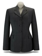 NEW RJ Classics Ladies Prestige Grey Plaid/Purple Stretch English Show Coat 4