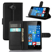 Luxury Flip Magnetic PU Leather Wallet Stand Case For Nokia Microsoft Lumia 650