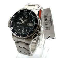 Seiko Sport Analog Mens 5 SPORTS  JAPAN Silver Watch SKZ209J1