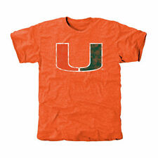 Miami Hurricanes Orange Classic Primary Tri-Blend T-Shirt
