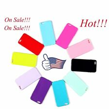 "Apple iPhone 6 Plus 5.5"" Silicone Case Soft Gel Cover Jelly Bumper Rubber Skin"