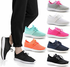 Ladies Fitness Running Sports Trainers Women Light Weight Gym Shoes Size 3-8 UK