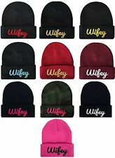 """Group Lot Many Colors """"WIFEY"""" 3D Hip Hop Cuff Cuffed Beanie Skull Cap"""