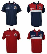 Chivas De Guadalajara Men Polo Shirt New W/Tags 100% Polyester Official Product