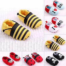 New Baby Boys Girls Soft Sole Prewalkers Sneakers Unisex Moccasins Walking Shoes