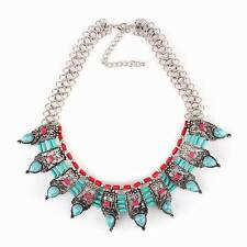 vintage alloy tibetan chunky bead statement women ethnic necklace jewelry 2016
