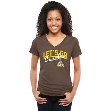 Valparaiso Crusaders Women's Brown Let's Go Tri-Blend V-Neck T-Shirt