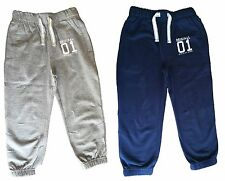 100 % COTTON KIDS BOYS GIRLS JOGGERS JOGGING BOTTOMS 1 2 3 4 5 6 YEARS BRAND NEW