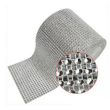 "4.7"" Diamond Mesh Wrap Roll Rhinestone Wedding Party Decor Trim Wrap Roll Hot"