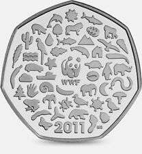 RARE Celebrating 50 years of the work of WWF 50p FIFTY PENCE 2011
