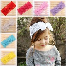 Cute Kids Baby Girl Toddler Lace Bowknot Headband Hair Band Headwear Accessories