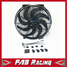 14'' 12V Electric Radiator Cooling Thermo Fan +Mounting Kits 14 inch