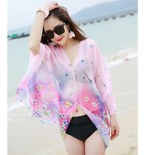 Sexy Bikini Cover up Hawaii Travel Beach Swimwear Sarong Pareo Summer Sun Shawl