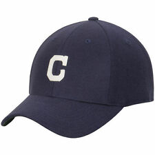 American Needle Cleveland Indians Navy Historic Cooperstown Fitted Hat