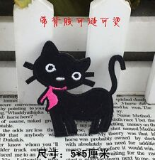 black sexy cat embroidered patch iron/sew on applique kids Cloth badge Fabric