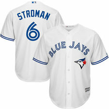 Majestic Toronto Blue Jays Marcus Stroman White Official Cool Base Player Jersey