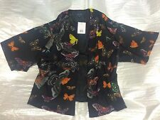 BNWT TOPSHOP BLACK BUTTERFLY PRINT KIMONO - UK 10 ! RRP £48 - SOLD OUT !