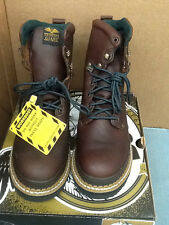 "Mens Georgia Boots 8"" Giant Safety Toe Work Boots G8374 Sizes 7M 7.5M 8W"