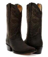 Grinders Dallas Brown ladies Real Leather Boot Cowboy Western Mid Calf Toe Boots