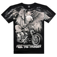 3D Eagle Pattern Cool Men's Round Neck Short Sleeve Cotton T-shirt Pullover Top