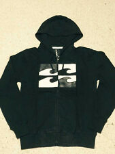 New Style Billabong Mens Fleece  Zip Hoodie Sweatshirt Black Size M L XL