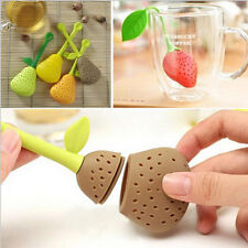 PRO Silicone Pear Tea Leaf Strainer Herbal Spice Infuser Teapot Cup Filters
