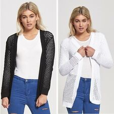 Women,s Long Sleeve Knitted Cardigan Jumper Ladies Cardigan Size 8-14
